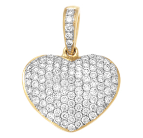 Micro Pave Heart Pendant