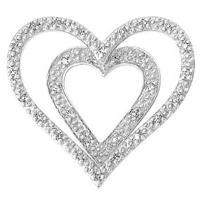 Double Heart Pendant HRT14