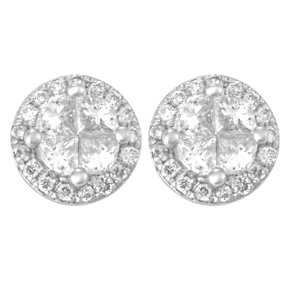 Invisible Set Round Earrings E14150