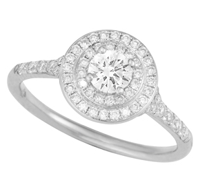 RBC Ring with Split Shank and Micro Pave Shoulders TR143