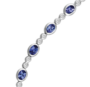 Oval Tanzanite and Diamond Bracelet TBTZ1