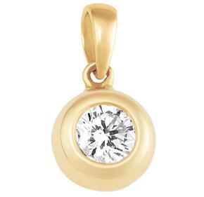 Bezel Set Sliding Diamond pendant