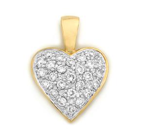 Pave Heart Pendant HP1