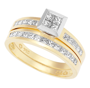Invisible Princess and Channel Set Ring R3100 + WED3