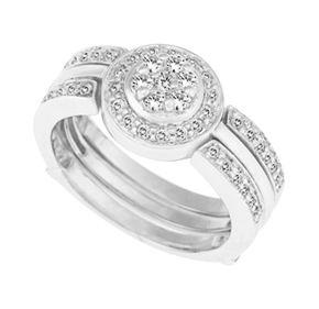 Cluster Diamond 2 Set Ring R8650