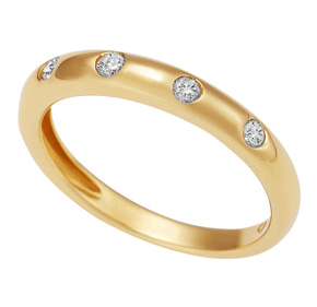 5 Stone Half Round Ring RET10B