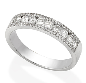 Channel Set Dress Ring with Micro Pave RBC RMIL14
