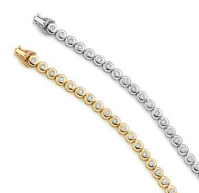 RBC Diamond Bezel Tennis Bracelets