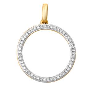 Micro Pave Open Circle Pendant PRND10
