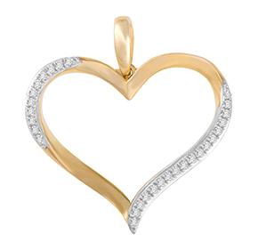 Micro Pave Open Heart Pendant