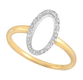 Grain Set Oval Diamond Ring