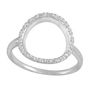 Grain Set Open Round Diamond Ring