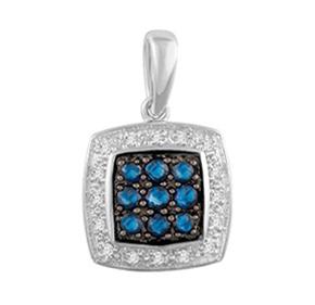 Cushion Sapphire & Diamond Pendant