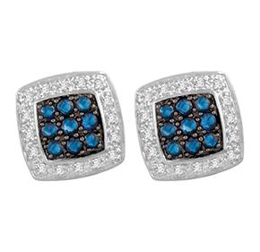 Cushion Sapphire & Diamond Earring
