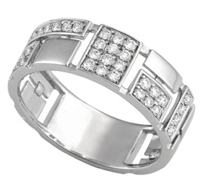 Micro Pave Puzzle Design Dress Ring RPUZ35