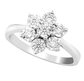 Flower Design RBC Illusion Ring