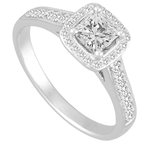 Micro Pave RBC and Princess Cut Ring TR12485