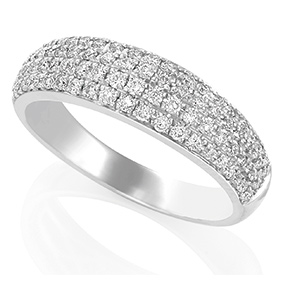 Dome Micro Pave Set Ring RMPAV50W