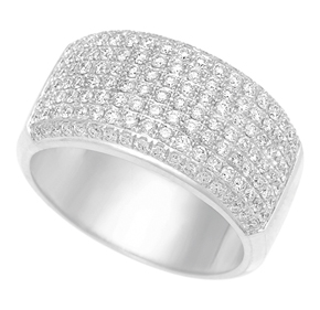 Dome Micro Pave Set Ring