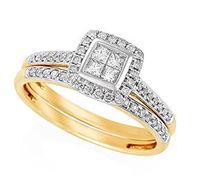 Invisible Set Princess Cut Ring