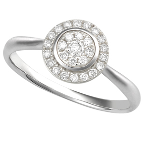 Round Cluster Diamond Ring RRND30