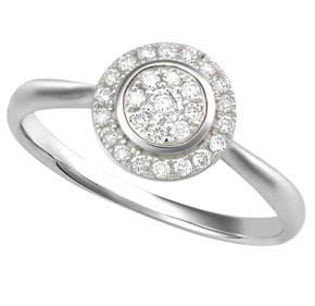 Round Cluster Diamond Ring RRND30