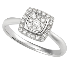 Round Cluster Diamond Ring RCUS30