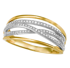 Cross Over Micro Pave Ring