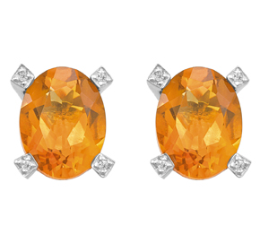 Oval Madeira Citrine Earrings
