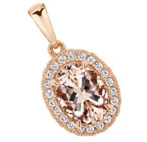 Morganite Rose Gold Pendant
