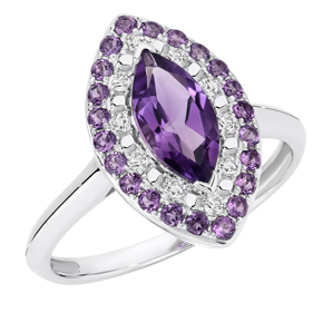 AMYTHYST MARQUISE DIAMOND RING