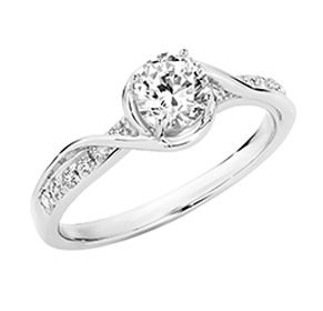 SEMI MOUNT ENGAGEMENT RING 0.20CT RBC for 0.30-0.35CT