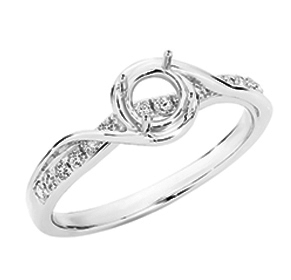 SEMI MOUNT ENGAGEMENT RING 0.20CT RBC for 0.40-0.50CT