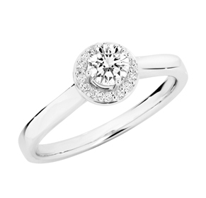 SEMI MOUNT ENGAGEMENT RING 0.12CT RBC for 0.30-0.35CT
