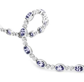 Tanzanite & RBC Diamond Tennis Bracelet